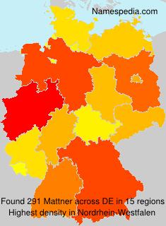 Surname Mattner in Germany