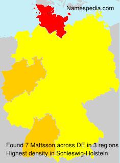 Familiennamen Mattsson - Germany