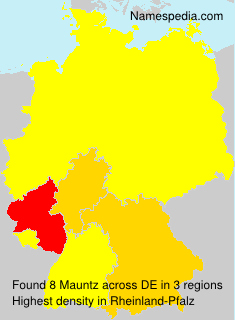 Surname Mauntz in Germany