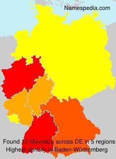 Familiennamen Mavridou - Germany