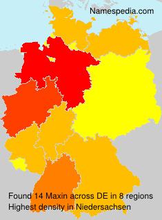 Familiennamen Maxin - Germany