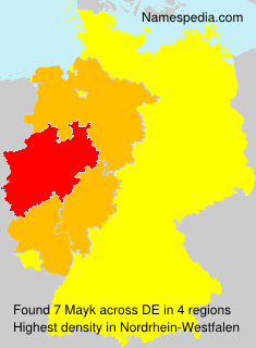 Surname Mayk in Germany