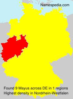 Familiennamen Mayus - Germany