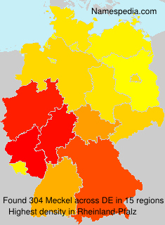 Surname Meckel in Germany