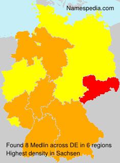 Familiennamen Medlin - Germany