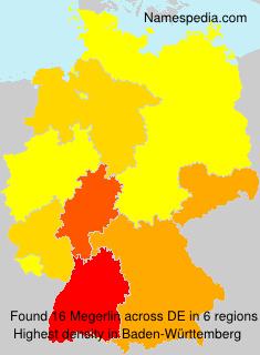 Surname Megerlin in Germany