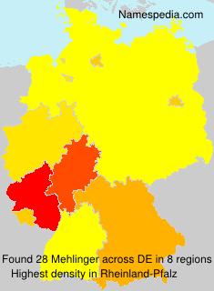 Surname Mehlinger in Germany