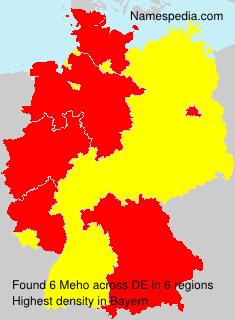 Familiennamen Meho - Germany