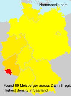 Familiennamen Meisberger - Germany