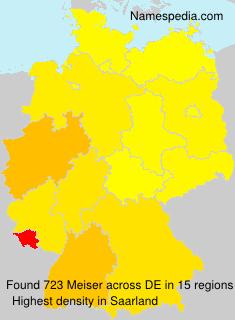 Surname Meiser in Germany