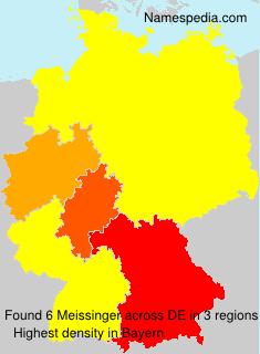 Surname Meissinger in Germany