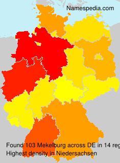Familiennamen Mekelburg - Germany