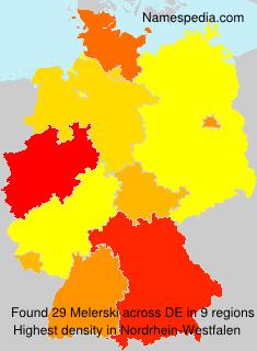Familiennamen Melerski - Germany