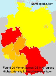 Surname Memet in Germany