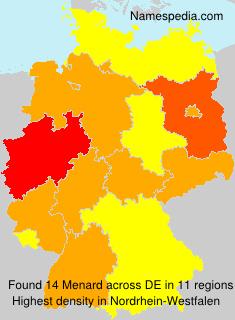 Surname Menard in Germany