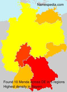 Surname Menda in Germany