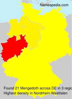 Surname Mengedoth in Germany