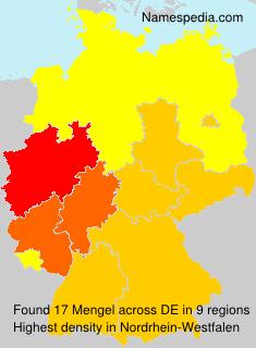Surname Mengel in Germany