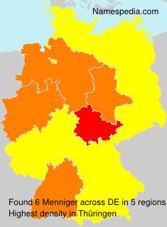Surname Menniger in Germany
