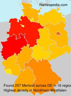 Familiennamen Mentzel - Germany