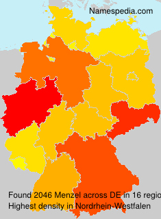 Surname Menzel in Germany
