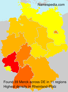 Surname Merck in Germany