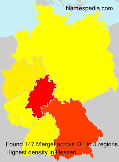 Surname Merget in Germany
