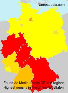 Surname Merlin in Germany