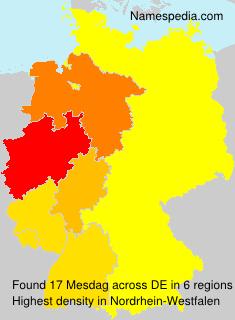 Surname Mesdag in Germany