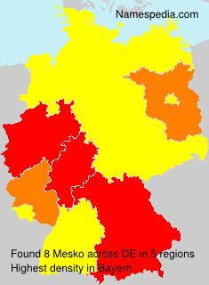Surname Mesko in Germany