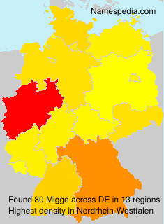 Familiennamen Migge - Germany