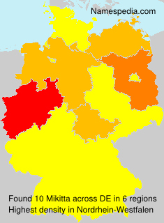 Surname Mikitta in Germany