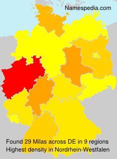 Surname Milas in Germany