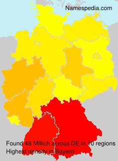 Familiennamen Millich - Germany