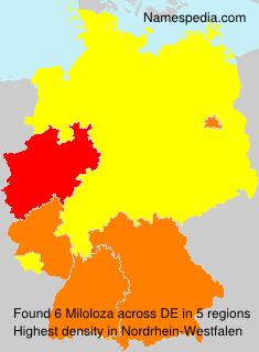 Surname Miloloza in Germany