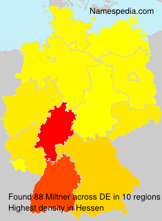 Surname Miltner in Germany