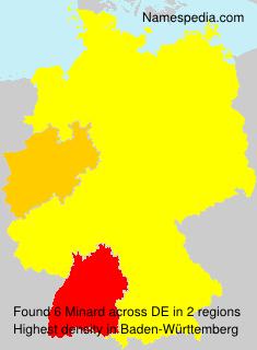 Familiennamen Minard - Germany