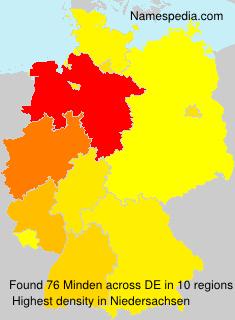 Surname Minden in Germany