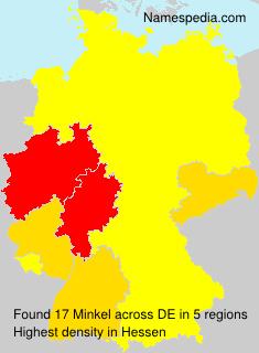 Surname Minkel in Germany