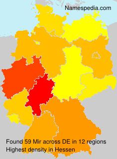 Surname Mir in Germany
