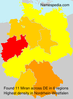 Surname Miran in Germany