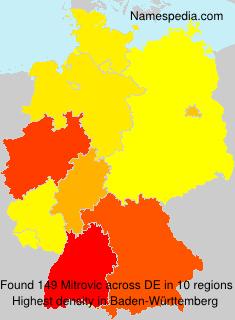 Surname Mitrovic in Germany