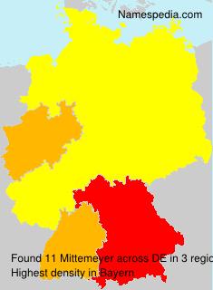 Familiennamen Mittemeyer - Germany