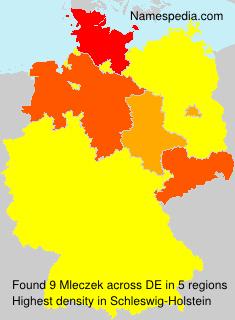 Surname Mleczek in Germany
