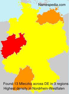 Surname Mleczko in Germany