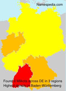 Surname Mlikota in Germany