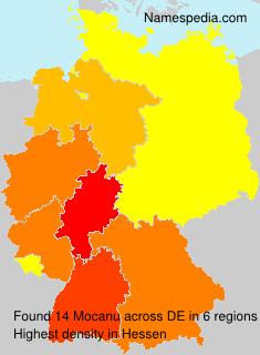 Surname Mocanu in Germany