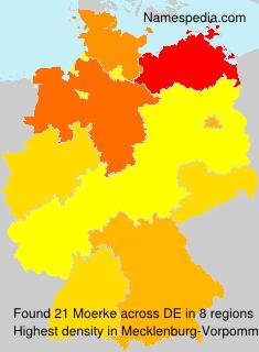 Familiennamen Moerke - Germany