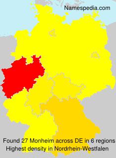 Surname Monheim in Germany