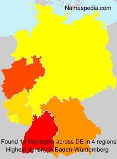 Familiennamen Montagna - Germany
